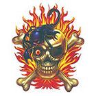 TattooGirlsRule Pirate Skull with Scorpion Temporary Tattoo (#BN551)