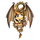 TattooGirlsRule Flying Dragon on Skull Temporary Tattoo (#EG535)
