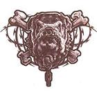 TattooGirlsRule Bulldog and Cross Bones Temporary Tattoo (#SK509)