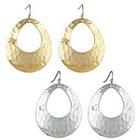 Target Drop Earrings - Silver