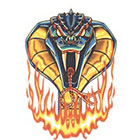 TattooGirlsRule Flaming Cobra Temporary Tattoo (#AS416)