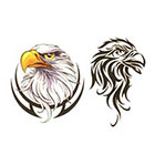 TattooGirlsRule Two Eagle Temporary Tattoo (#BC522)