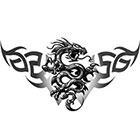 TattooGirlsRule Dragon Design for Back, Belly or Arm Temporary Tattoo (#CD501)