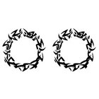 TattooGirlsRule 2 Black Spiky Ring Temporary Tattoos (#D403_2)