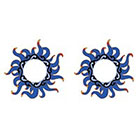 TattooGirlsRule 2 Blue Wavy Sun Ring Temporary Tattoos (#D421_2)