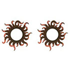 TattooGirlsRule 2 Brown Wavy Sun Ring Temporary Tattoos (#D450_2)