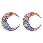 TattooGirlsRule 2 Fancy Moon Ring Temporary Tattoos (#D453_2)