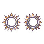 TattooGirlsRule 2 Inca Sun Ring Temporary Tattoos (#R447_2)