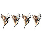 TattooGirlsRule 4 Small Wolf Temporary Tattoos (#P361_4)