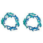 TattooGirlsRule 2 Dolphin Ring Temporary Tattoos (#D409_2)