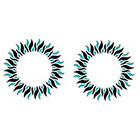 TattooGirlsRule 2 Blue-Black Sun Ring Temporary Tattoos (#D415_2)