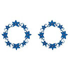 TattooGirlsRule 2 Blue Flowers Ring Temporary Tattoos (#D460_2)