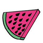 Tattoocrew Includes 2 tattoos: Temporary tattoo, Wassermelone, watermelon, pink, Temporäres Tattoo, hand drawn, Art, Bodyart, Doppelpack