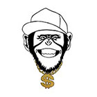 Tattoocrew Includes 2 tattoos: Temporary monkey tattoo, gold Affe, Temporäres Tattoo, Gangster Ghetto, Animal, handdrawn, Art, Bodyart