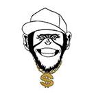 Tattoocrew Includes 2 tattoos: Temporary monkey tattoo, gold Affe, Temporäres Tattoo, Gangster Ghetto, Animal, handdrawn, Art, Bodyart