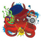 Tattoocrew Includes 2 tattoos: temporary Octopus, octopus tattoo, temporary tattoo, ghetto, Ganster, handdrawn, art, body art
