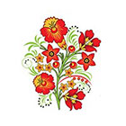 Ombeyond TEMPORARY TATTOO - 5 Patterns of Shoulder Blade Colorful Florals in