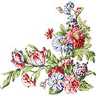 Ombeyond TEMPORARY TATTOO - 5 Patterns of Shoulder Blade Colorful Florals
