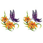TattooGirlsRule 2 Butterfly at Tiger Lillies Temporary Tattoos (#D463_2)