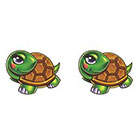 TattooGirlsRule 2 Turtle Temporary Tattoos (#EG572_2)