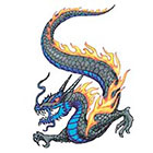 TattooGirlsRule Flaming Dragon Temporary Tattoo (#VS459)
