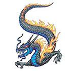 TattooGirlsRule Flaming Dragon Temporary Tattoo (#VS459)