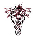 TattooGirlsRule Large Dragon Crest Temporary Tattoo (#DR809)