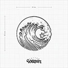 TattooWhatever Huge Wave Temporary Tattoo - Available in 2 sizes, 2 colours, black and white, large size