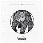 TattooWhatever Geometric Creeping Bear Temporary Tattoo - Available in 2 sizes, black and white, large size