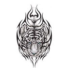 TattooGirlsRule Large Tiger With Blue Eyes Temporary Tattoo (#DR813)