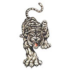 TattooGirlsRule Large Angry Tiger Temporary Tattoo (#DR812)