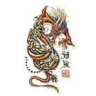TattooGirlsRule Large Chinese Dragon and Tiger Temporary Tattoo (#BR541B)