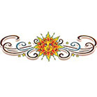 TattooGirlsRule Large Sun Design for Lower Back Temporary Tattoo (#VS910)