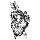 WildLifeDream Heart and arrows - Temporary tattoo