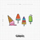 TattooWhatever Ice Cream Temporary Tattoo -Colourful, Summer, Set of 2