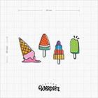 TattooWhatever Ice Cream Temporary Tattoo -Colourful, Summer, Set of 2