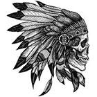 WildLifeDream Native American Skull - Temporary tattoos