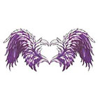 TattooGirlsRule Large Heart Wings for the Back Temporary Tattoo (#HR805)