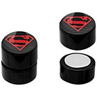 DC Comics DC Comics Superman Logo Acrylic and Stainless Steel Magnetic Earrings - Black