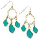 Target Zirconite Druzy Chandlier Earring - Turquoise