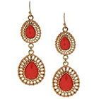 Target Teardrop Earring with Stones - Gold/Pink