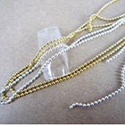 Amazon Set of 2: Silver & Gold Beads Stone Chain Nail Art Decoration