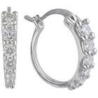 Target Sterling Silver Hoop Earring - Silver