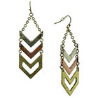 Target Zinc Alloy Chevron Dangle Drop Earrings - Multicolor