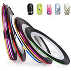 Amazon Nail Tape Stripe Decoration Sticker Hologram, Set of 10