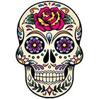 WildLifeDream Dia de los muertos Skull - Temporary tattoo