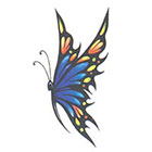 TattooGirlsRule Large Butterfly Temporary Tattoo (#D574)