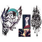 NovuInk Elements Trees and Arrows + Twilight Owl Waterproof Temporary Tattoo Transfer (Original Hand Painted Art Design)