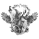 WildLifeDream Wolf & Horse - Temporary tattoo