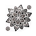 NovuInk Mandala Om Waterproof Temporary Tattoo Transfer (Original Hand Painted Art Design)